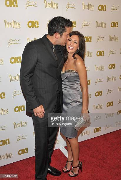 The Bachelorette Jillian Harris and fiance Ed Swiderski arrive at the OK Magazine 2010 PreOscar Cocktail Party at Beso on March 5 2010 in Hollywood...