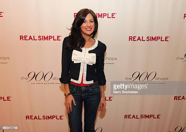 The Bachelorette's Jillian Harris attends the Real Simple 10th anniversary kickoff event at The 900 Shops on April 8 2010 in Chicago Illinois