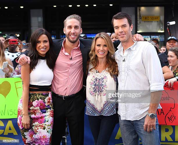 AMERICA The Bachelorette's Kaitlyn Bristowe and Shawn Booth and Trista and Ryan Sutter are guests on Good Morning America 7/29/15 airing on the Walt...