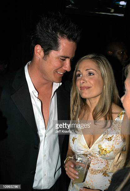 The Bachelor's Andrew Firestone and Jen Schefft during 2003 MTV Movie Awards Backstage and Audience at The Shrine Auditorium in Los Angeles...