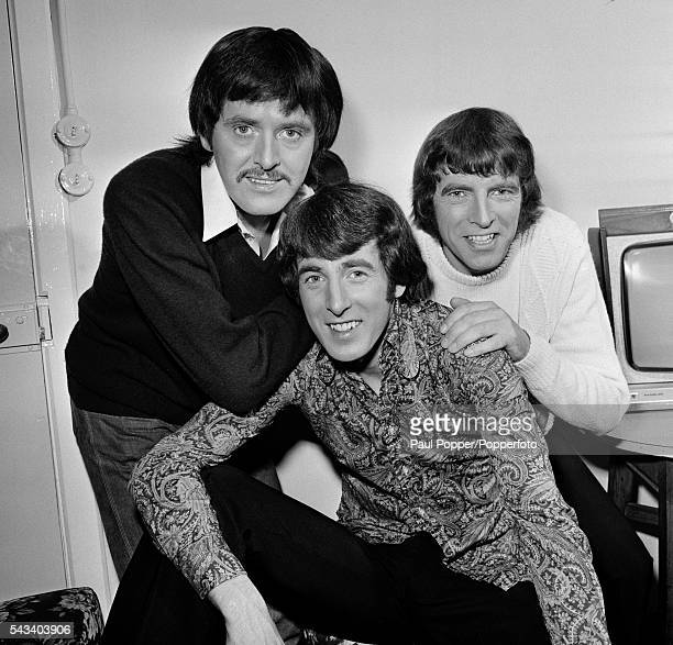 The Bachelors at Manchester Opera House, circa 1970. Left-right: John Stokes, Conleth McCluskey and Declan McCluskey.