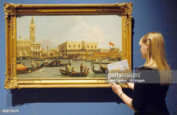 The Bacino di San Marco on Ascension Day by Canaletto 17334 on display at the Queen's Gallery Buckingham Palace London on Thursday November 10th 2005...