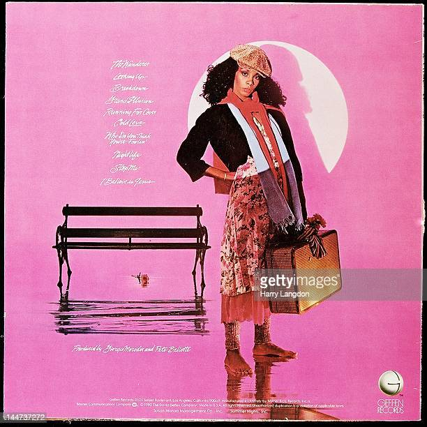 The back cover of the Donna Summer album 'The Wanderer' released in 1980