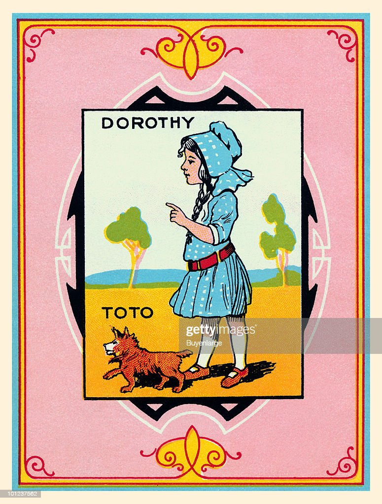 The back cover of the instruction manual for the board game for the Wizard of Oz from 1921.