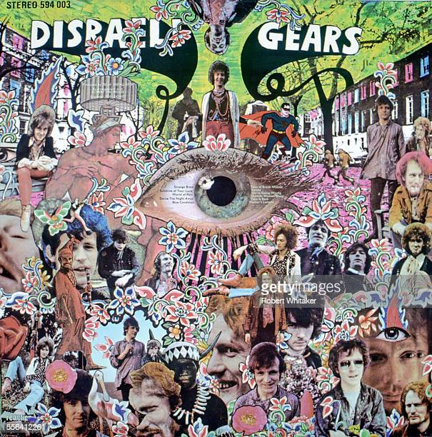 The back cover of the sleeve for Cream's 1967 album Disraeli Gears Designed by the artist Martin Sharp it features the photography of Robert Whitaker...