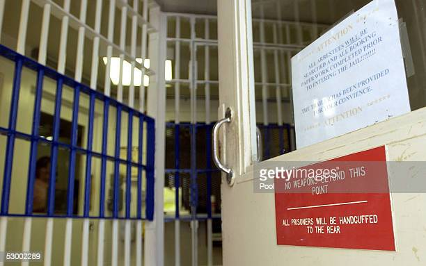 The back door into the booking area of the jail at the Santa Barbara County Sheriff Substation is shown May 10, 2005 in Orcutt, California. If...