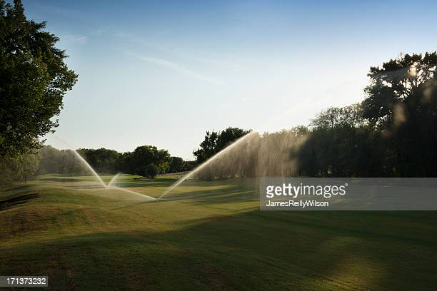 the back nine - sprinkler system stock pictures, royalty-free photos & images