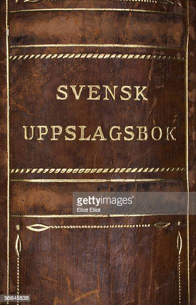The back of an old book, Sweden.