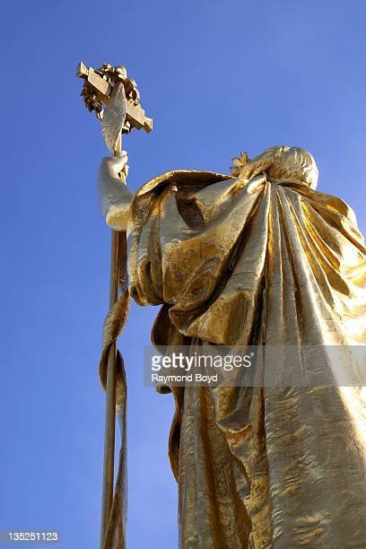 """The back of Daniel Chester French's """"The Republic"""" sculpture, dedicated in 1918 to commemorate the 25th Anniversary of the 1893 World's Columbian..."""