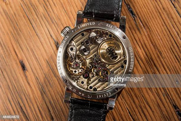 The back of the A Lange Söhne Zeitwerk Luminous watch belonging to Tony Fadell cofounder and chief executive officer of Nest Inc not pictured is...