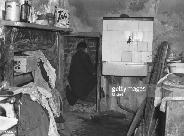 The back room at 10 Rillington Place Notting Hill London where John Christie hid one of his murder victims