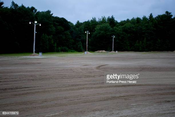 The back section of the puts at Beech Ridge Motor Speedway sits unoccupied before the start of a race on Nascar Nite Saturday July 25 as well as...