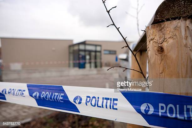 The back yard of the Fabeltjesland daycare center is seen in Dendermonde Judicial authorities said Saturday they were questioning a 20yearold man...