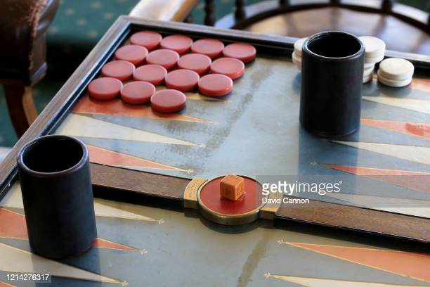 The backgammon set in the main club room at Royal St. George's Golf Club on September 03, 2012 in Sandwich, England.