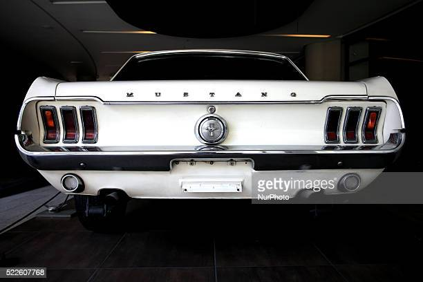 The backside of an old Mustang car Athens April 6 2016