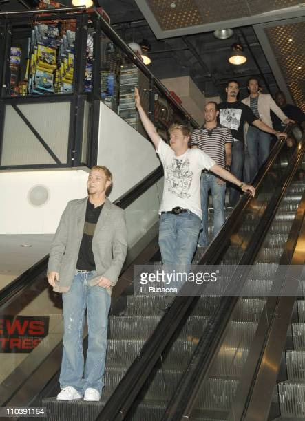 The Backstreet Boys during The Backstreet Boys Sign Their New CD 'Never Gone' at Virgin Megastore in New York at Virgin Megastore Times Square in New...