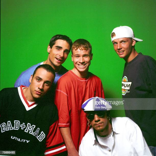 The Backstreet Boys Howie Dorough Kevin Richardson Brian Littrell AJ McLean and Nick Carter pose for an April 1997 portrait in Miami Beach Florida