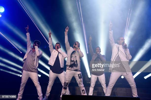 The Backstreet Boys perform at Northwell Health at Jones Beach Theater on June 15 2018 in Wantagh New York