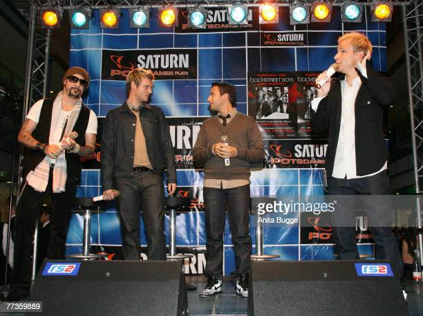 The Backstreet Boys performing 3 songs onstage to promote their upcoming album ?Unbreakable? at the Potsdamer Platz Arkaden, October 10 in Berlin,...