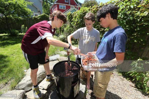 """The Backyard Jerks"" smoke beef jerky in the backyard of ..."
