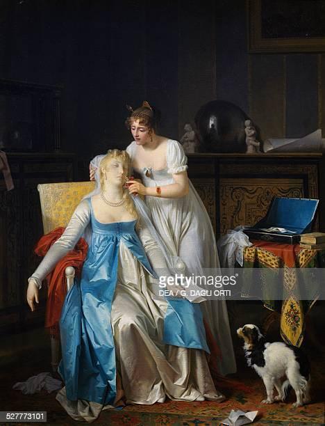 The bad news painting by Marguerite Gerard oil on canvas 635x505 cm France 19th century Paris Musée Du Louvre