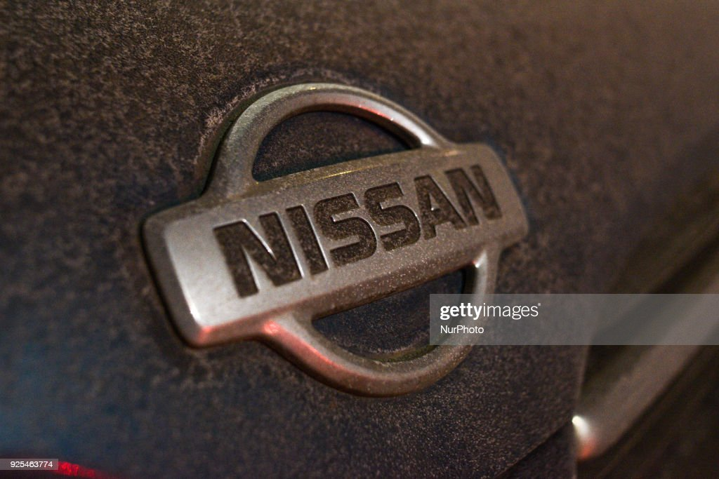 The badge of a Nissan car is seen in Warsaw, Poland on February 27, 2018.