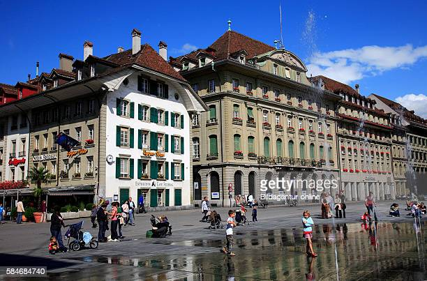 The Baerenplatz square in the old city of Bern Berne Switzerland