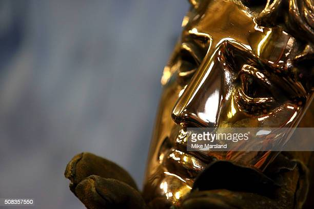 The BAFTA masks are forged ahead of the EE British Academy Film Awards at New Pro Foundry on February 4, 2016 in West Drayton, United Kingdom.