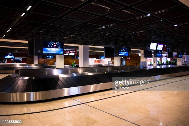 The baggage claim area at Berlin Brandenburg Airport 'Willy Brandt' is seen head of its opening, planned for October 31, in Schoenefeld, Germany,...