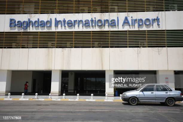 The Baghdad international airport is pictured following its reopening on July 23 after a closure forced by the coronavirus pandemic restrictions...