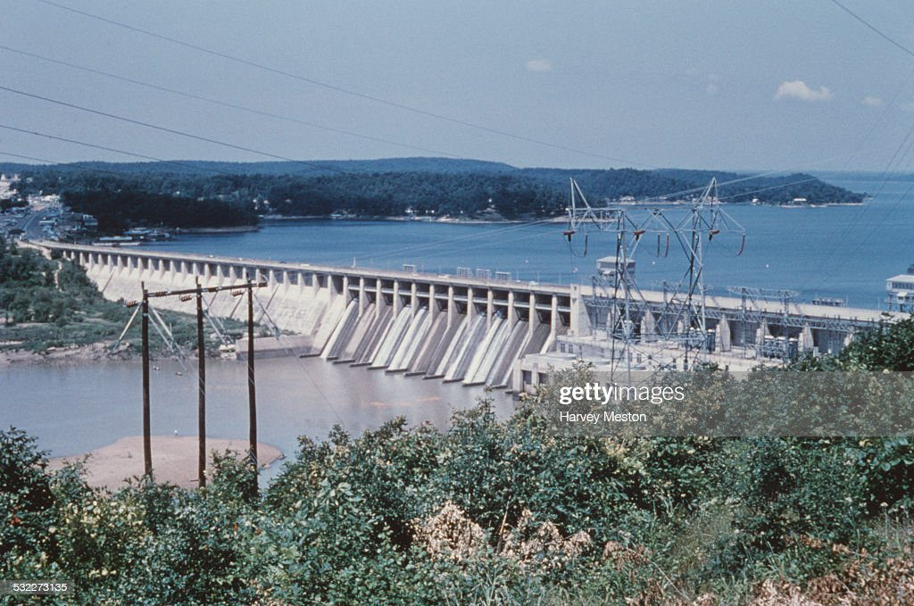 The Bagnell Dam on the Lake of the Ozarks, Missouri, USA