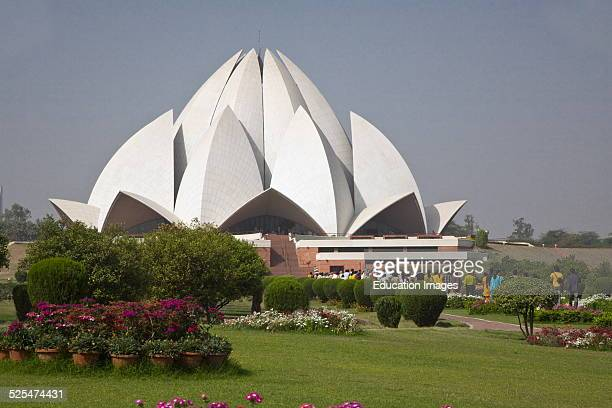 The Bahai House Of Worship Known As The Lotus Temple Was Completed In 1986 New Delhi India