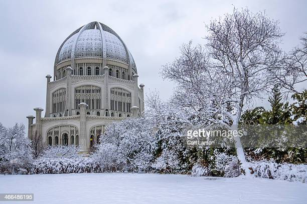 The Baha'i House of Worship, located in Wilmette, Illinois, just north of Chicago, right after a beautiful snowfall. The Baha'i Temple is one of...