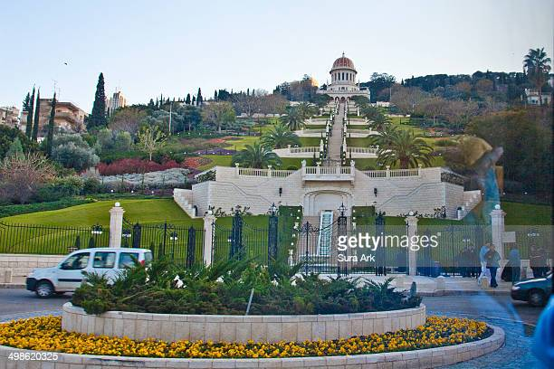 The Bahai Shrine and Gardens in Haifa comprise a staircase of nineteen terraces extending all the way up the northern slope of Mount Carmelover. In...