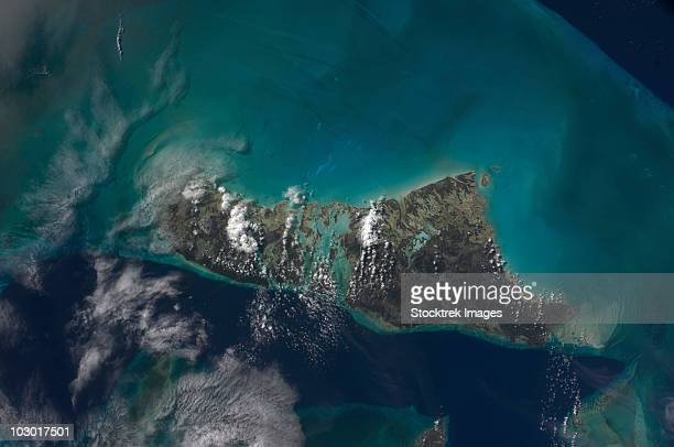 The Bahamas' Andros Island and the Tongue of the Ocean.