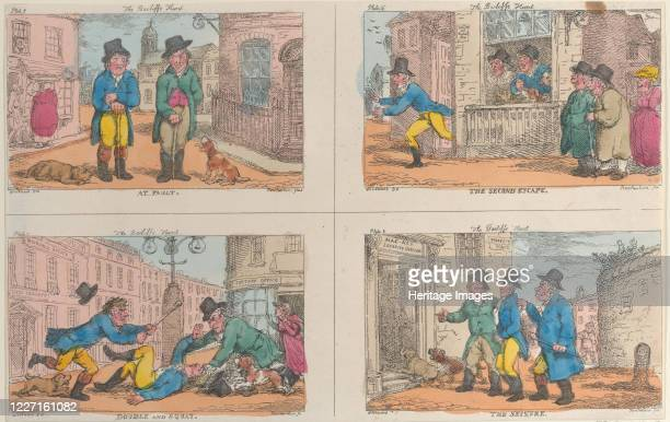The Bailiff's Hunt At Fault The Second Escape Double and Squat and The Seizure 1809 Artist Thomas Rowlandson