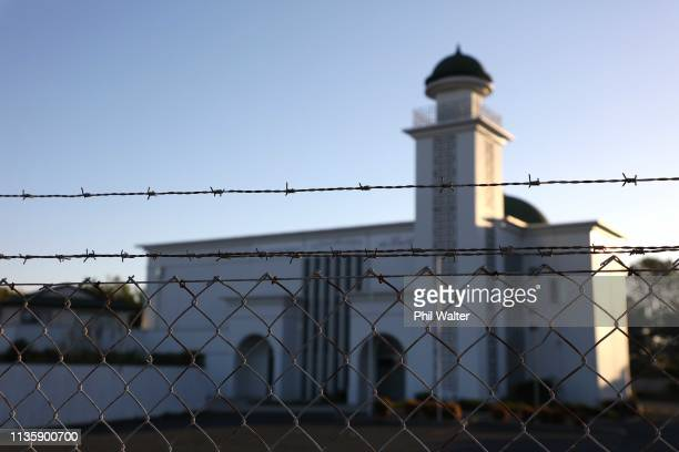 The Baitul Muqeet Mosque is pictured empty in Homai on March 15 2019 in Auckland New Zealand Four people are in custody following shootings at two...