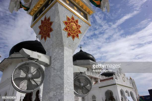 The Baiturrahman Grand Mosque which was built in 1612 during the reign of Aceh Sultan Iskandar Muda is seen in Aceh Indonesia on June 06 2017
