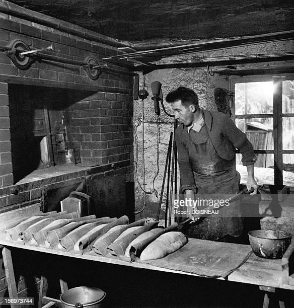 The baker, 1947 in Saint-Veran, France.