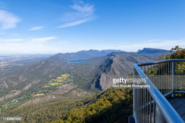 the balconies, grampians national park, victoria, australia - lookout tower stock pictures, royalty-free photos & images