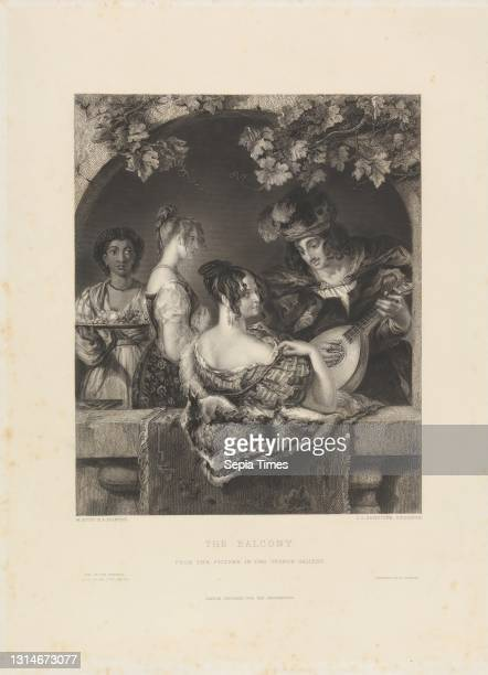 The Balcony, Print made by James Charles Armytage, 1802–1897, British, after William Etty, 1787–1849, British, Printed by George Virtue, ca....