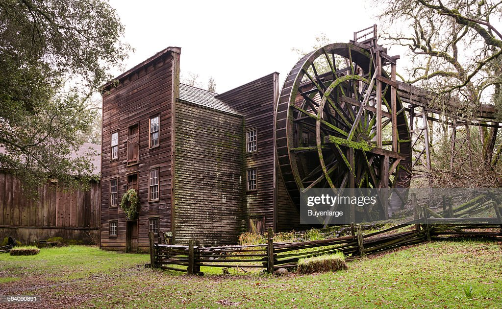 The Bale Grist Mill, now a California Historic Park, operated by the Napa County Regional Park and O : News Photo