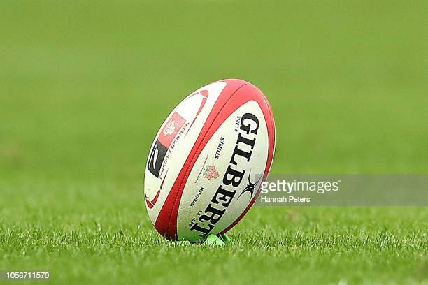 The ball during the test match between Japan and New Zealand All Blacks at Tokyo Stadium on November 3 2018 in Chofu Tokyo Japan