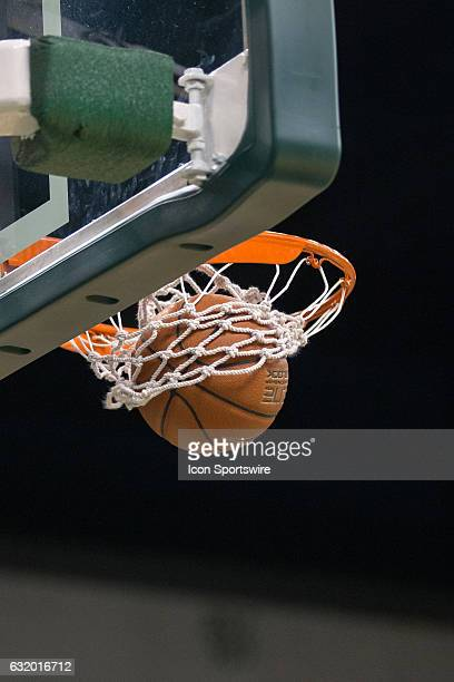 The ball goes thru the hoop for a Cleveland State Vikings basket during the first quarter of the NCAA Women's Basketball game between the UIC Flames...