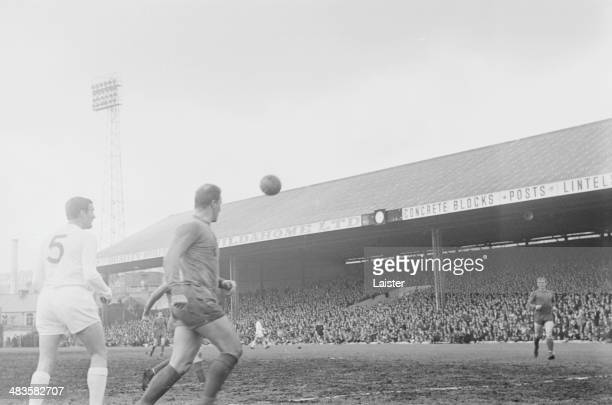 The ball in play during a testimonial football match between Swansea City and Leeds United 26th May 1968
