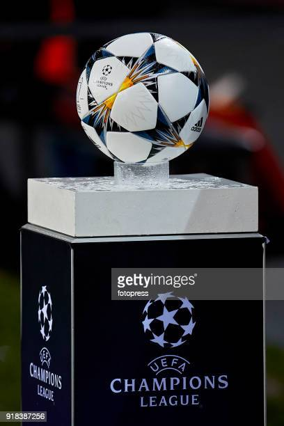 The ball of Champions League prior to the UEFA Champions League Round of 16 First Leg match between FC Porto and Liverpool FC at Estadio do Dragao on...