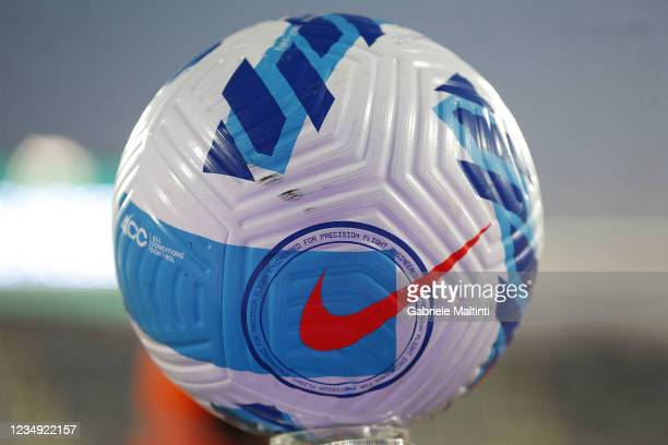 The ball of the match during the Serie A match between ACF Fiorentina and Torino FC at Stadio Artemio Franchi on August 28, 2021 in Florence, Italy .