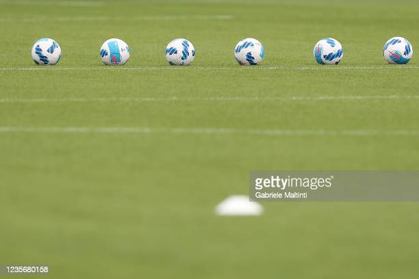 The ball of the match during the Serie A match between ACF Fiorentina v SSC Napoli at Stadio Artemio Franchi on October 3, 2021 in Florence, Italy.