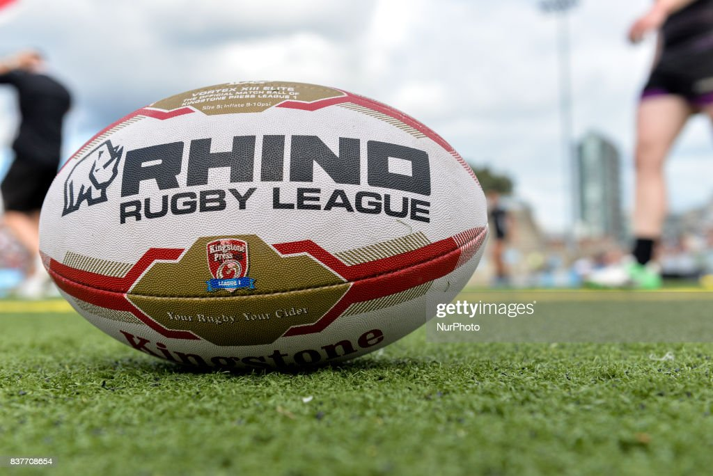 The ball of theg Super 8s Round 4 game between Toronto Wolfpack (Canada) vs Newcastle Thunder (United Kingdom) at Allan A. Lamport Stadium in Toronto, Canada on August 19, 2017.