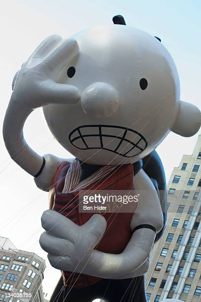 The balloon of Diary of a Wimpy Kid floats in Macy's Legendary Thanksgiving Day Parade on November 24, 2011 in New York City.